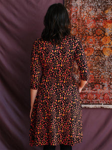 Callie Wrap Dress - Pink Spots