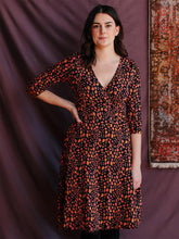 Load image into Gallery viewer, Callie Wrap Dress - Pink Spots