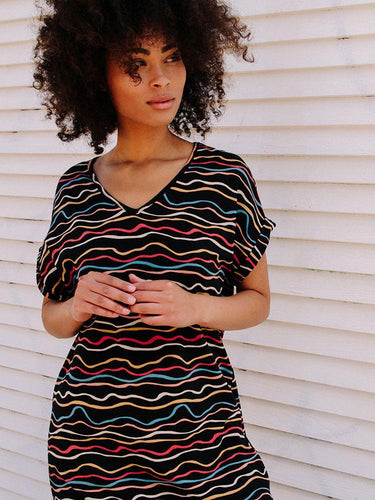 Mata Traders Montrose Dress - Wobbly Stripe