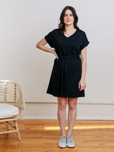 Load image into Gallery viewer, Montrose Tie Dress - Black