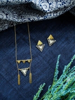 Load image into Gallery viewer, Oblique Triangle Earrings