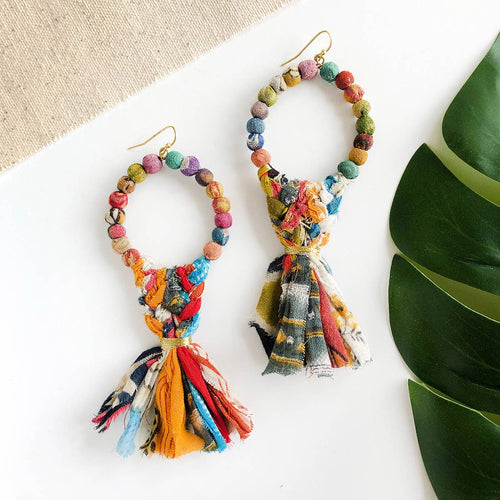 Kyla Kantha Statement Earrings - WorldFinds