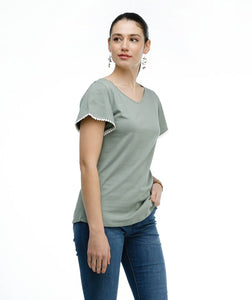 Elyse Top - Thunder Grey