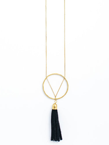 Ellaria Tassel Necklace - Black