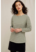 Load image into Gallery viewer, People Tree Emma Striped Top in Green