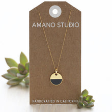 Load image into Gallery viewer, Amano Studio Color Horizon Necklace - Minimalist Simple Gold Necklace