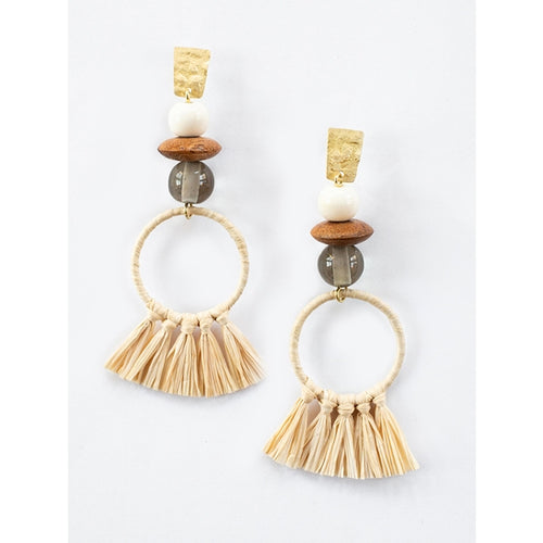 Alaya Raffia Earrings - Mata Traders