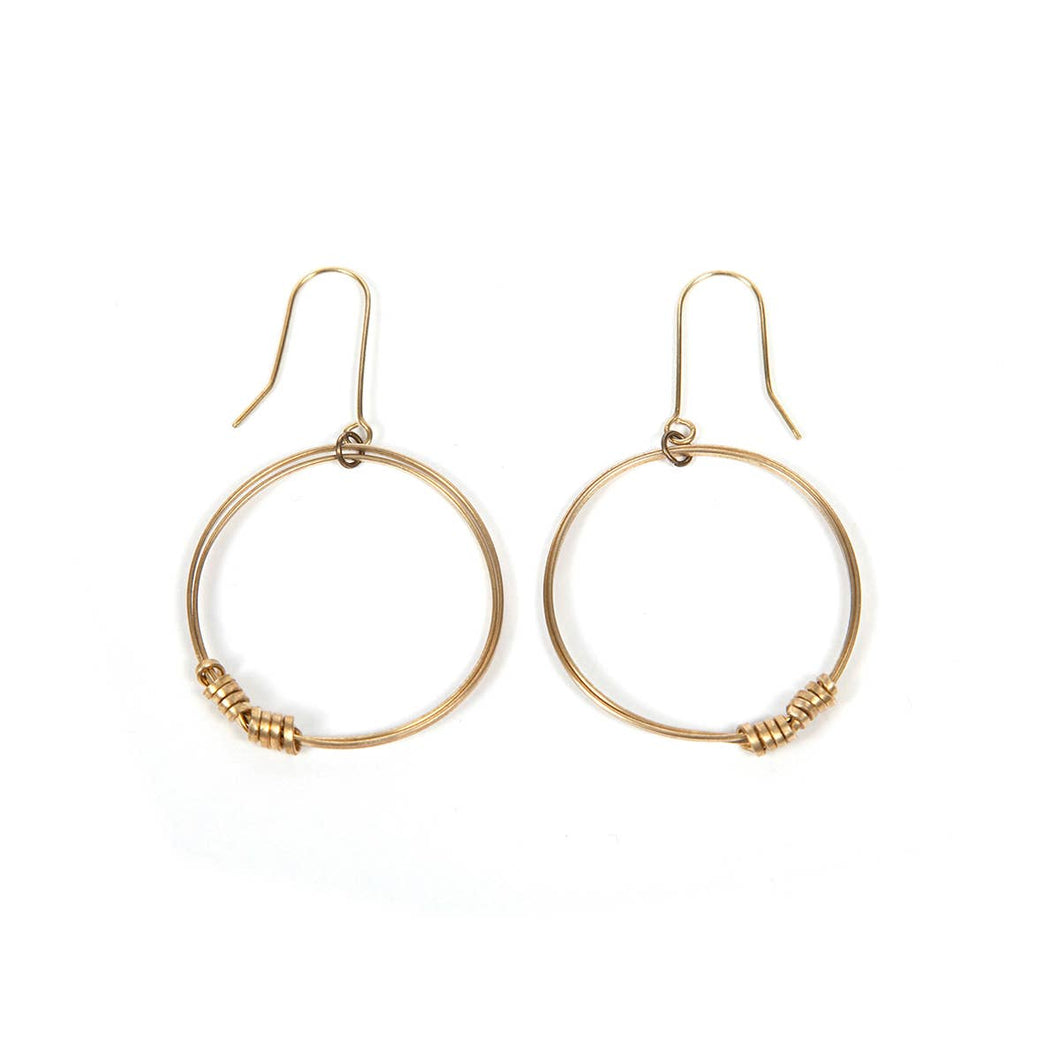 Single Hoop Gold Earrings - WorldFinds + Just Trade