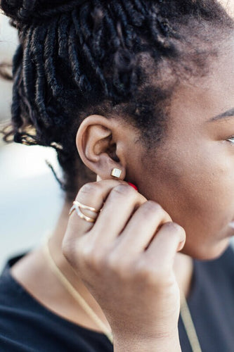 Fair Anita Stone Recycled Stud Earrings - Made in India