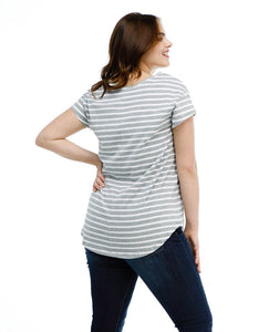 Maya Tee - Grey Stripe