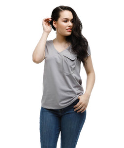 Rose Tee in Cool Grey