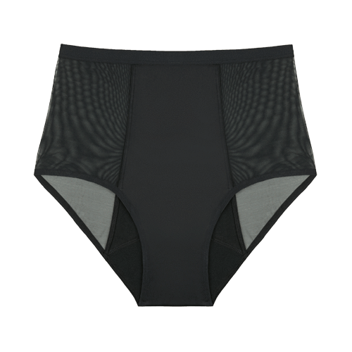 Thinx Hi-Waist Period Panties - Black