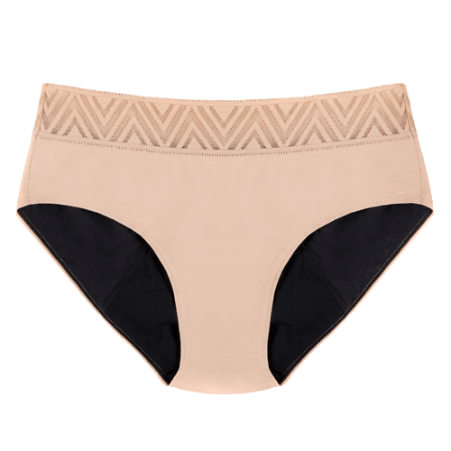 Thinx Hiphugger Period Panties - Beige