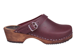 Classic Clogs with Strap - Aubergine