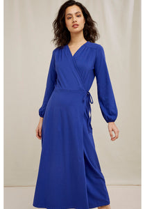Inga Wrap Dress - Royal Blue