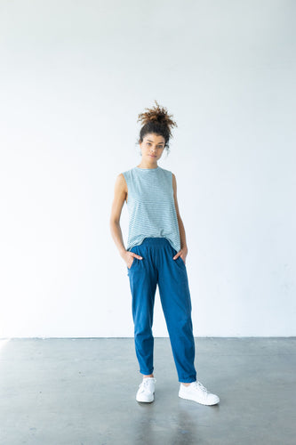 Sequoia Organic Cotton Cropped Pant - Blue