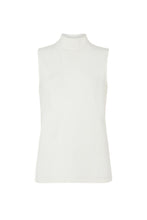 Load image into Gallery viewer, People Tree Fair Trade Turtleneck Tank Top - White
