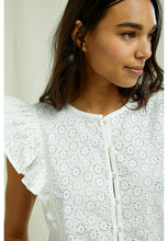 Load image into Gallery viewer, People Tree - Organic Cotton Kyra Broderie Top