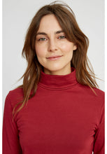 Load image into Gallery viewer, Laila Roll Neck Top - Red