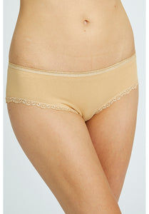 Lace Hipster - Almond