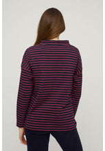 Load image into Gallery viewer, Leah Stripe Top - Navy