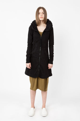 Long Cloak Hoodie - Black