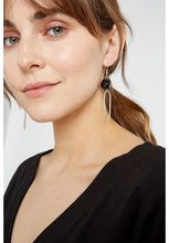 Load image into Gallery viewer, Bead and Oval Earrings - Silver