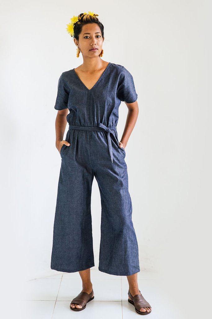 Rachana Jumpsuit - Soft Denim