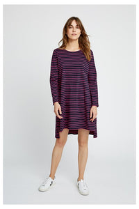Rafaella Stripe Tunic - Navy