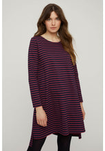 Load image into Gallery viewer, Rafaella Stripe Tunic - Navy