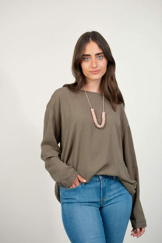 Relaxed Basic Top - Olive