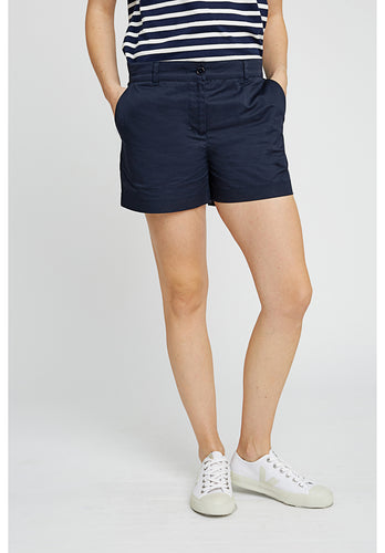 Above Knee Organic Cotton Navy Shorts - Fair Trade