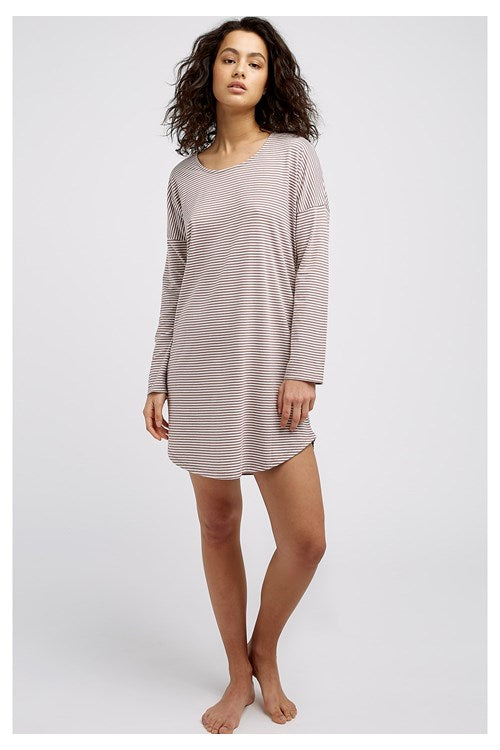 People Tree Stripe Long Sleeve Nightdress
