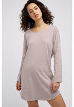 Load image into Gallery viewer, Stripe Long Sleeve Nightdress