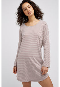 Stripe Long Sleeve Nightdress