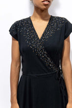 Load image into Gallery viewer, Mekong Wrap Dress - Black Confetti