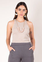 Load image into Gallery viewer, tonle Zero Waste Fashion Rib Crop Top - Beige