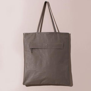 Leather Magazine Tote