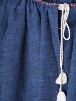 Load image into Gallery viewer, Tulum Tassel Top - Chambray