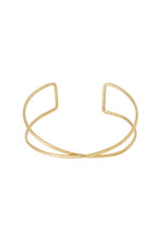 Load image into Gallery viewer, Twist Double Bangle - Brass
