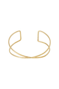 Twist Double Bangle - Brass
