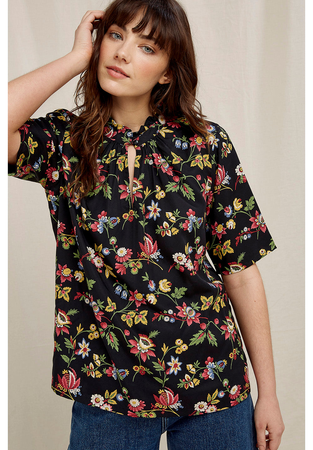 People Tree V&A Jardin Print Top