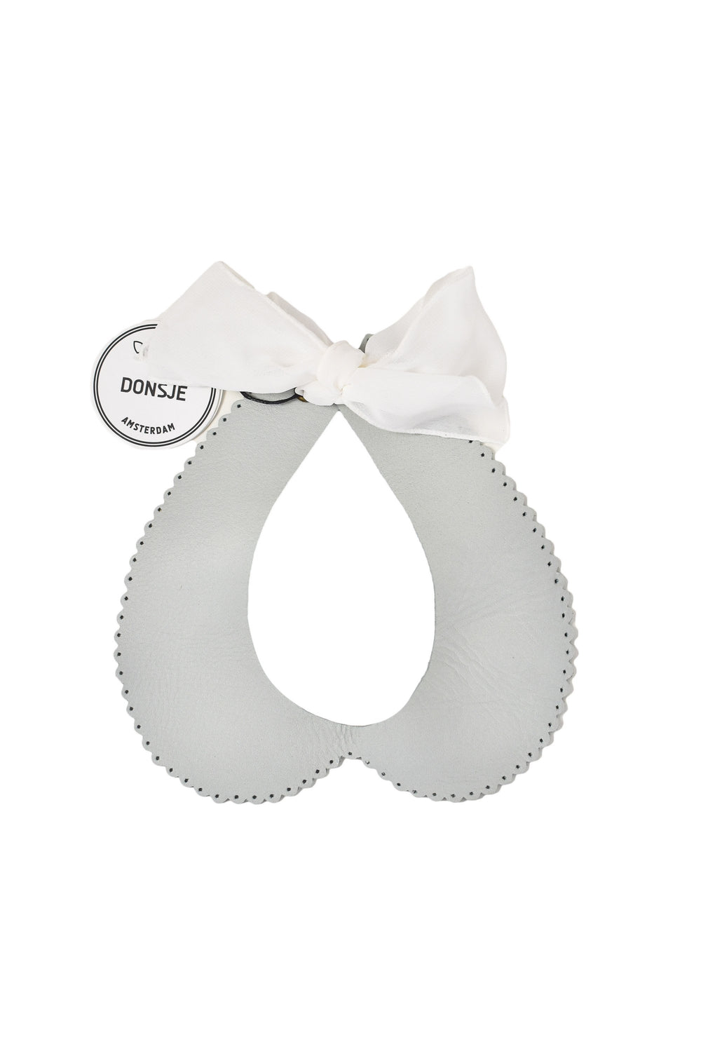 Donsje - Organza Collar in Light Grey Leather