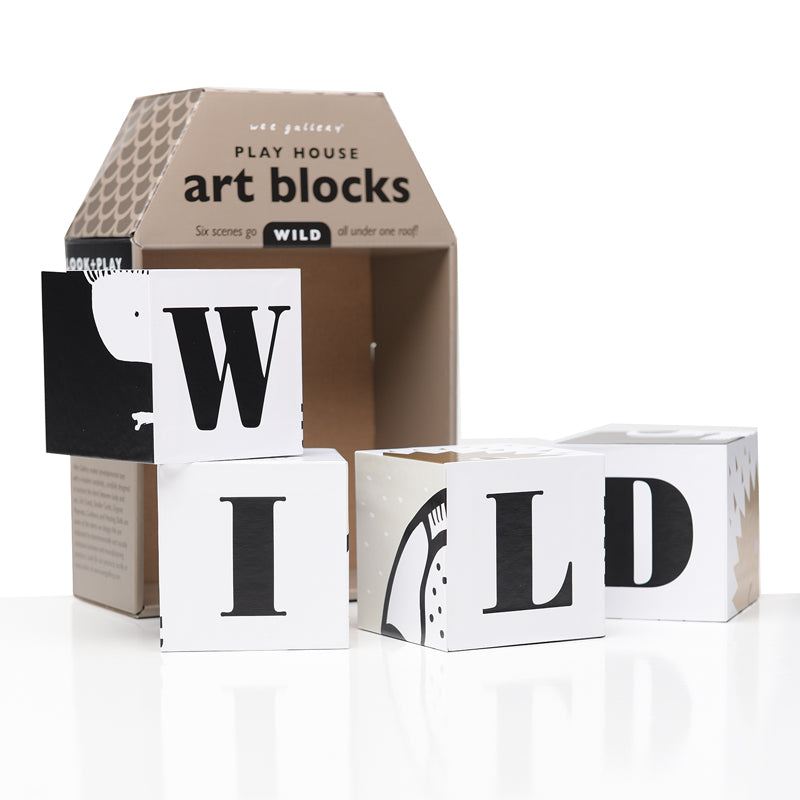 WEE GALLERY - Play House Art Blocks (WILD)