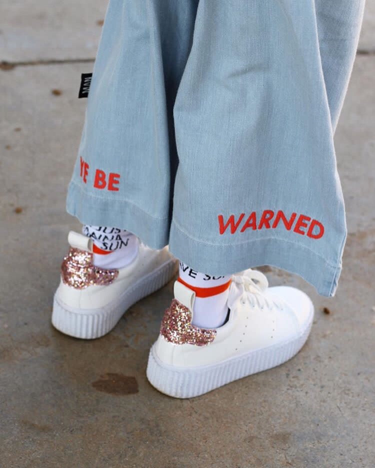 "Little Man Happy - ""Ye Be Warned"" Cropped Pants"