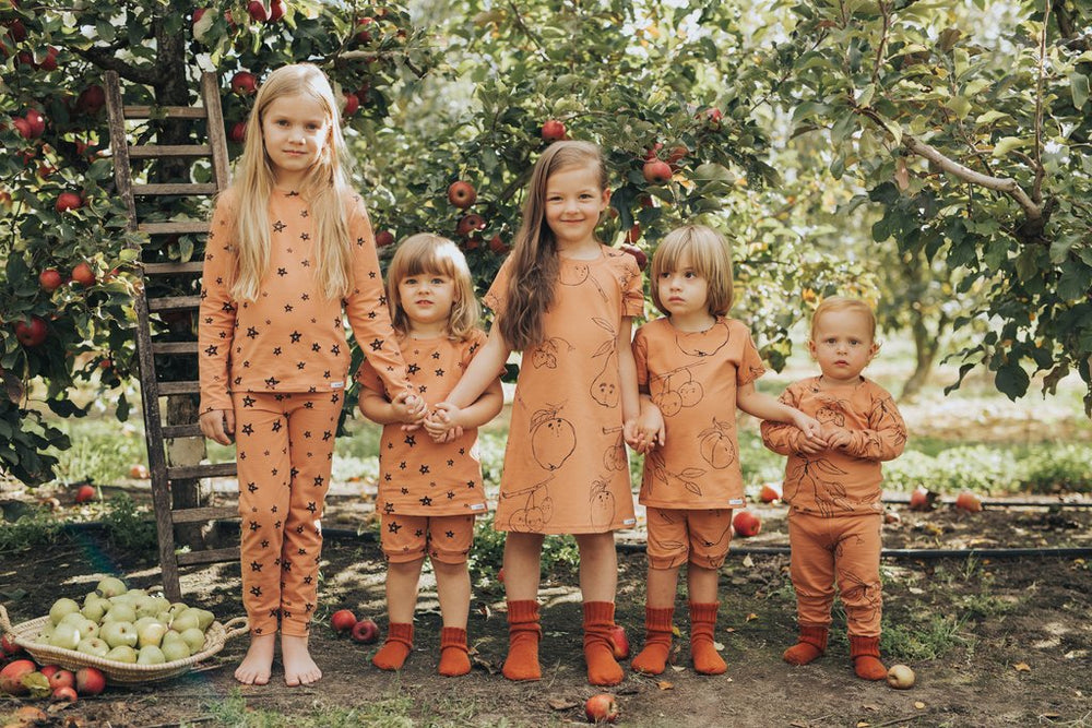 G.Nancy – Fruit Long PJ Set in Terracotta