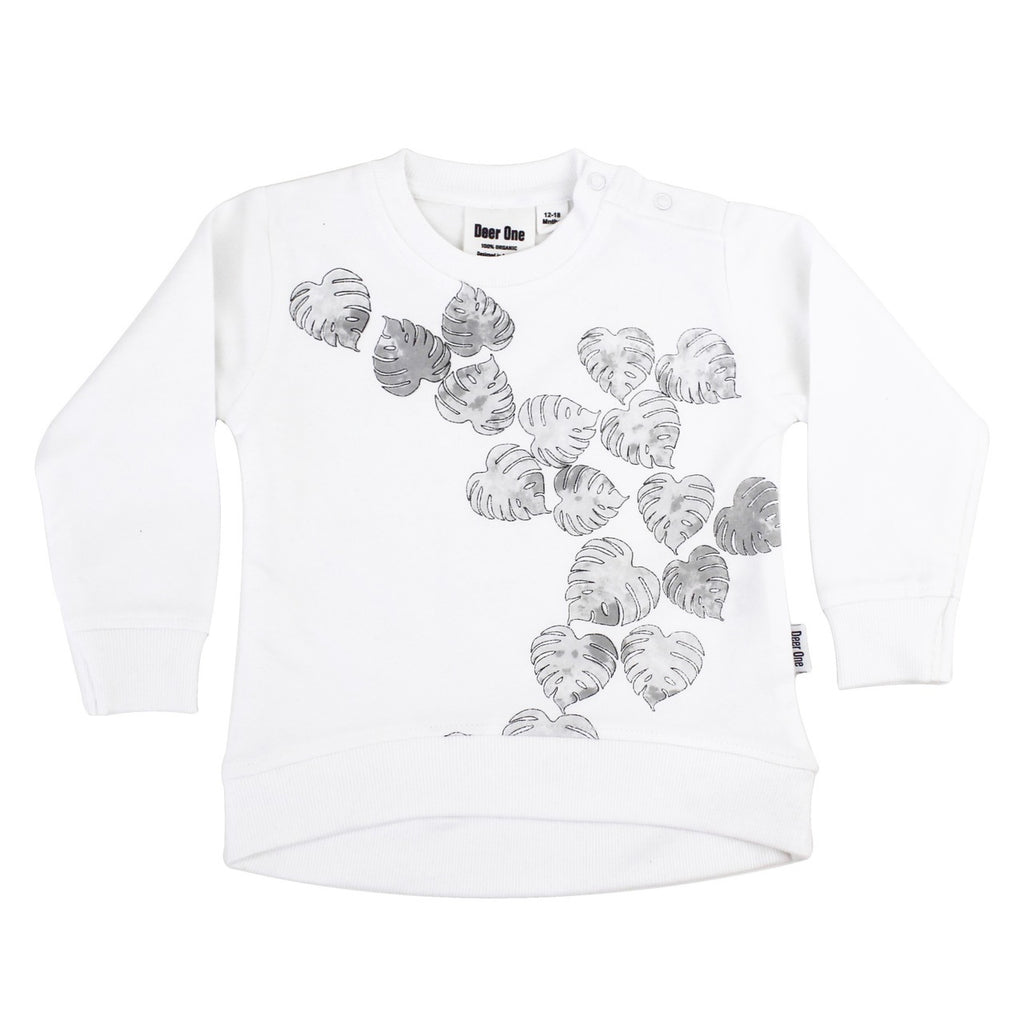Deer One - Monstera Watercolour Jumper