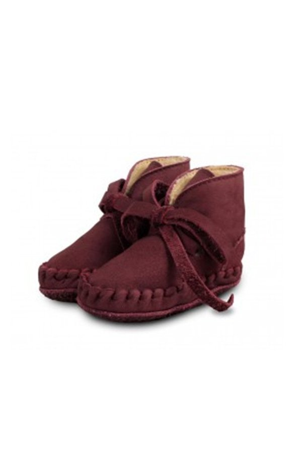 Donsje - Leather Laces - Nubuck Berry Red