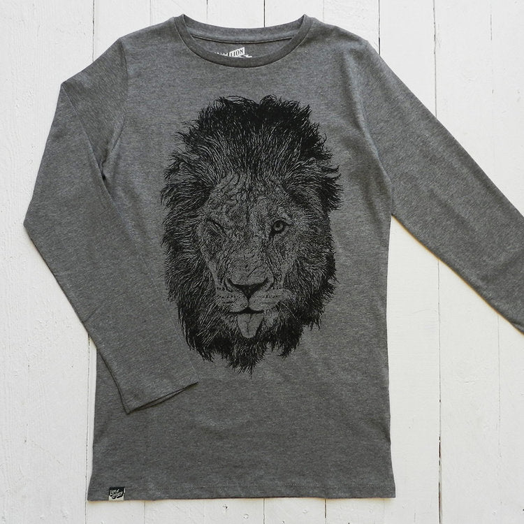 Lion Of Leisure - Lion Long Sleeved Kids Tee