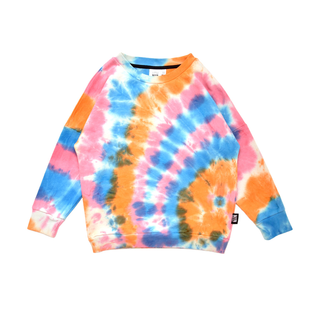Little Man Happy - Tie Dye Loose Sweater